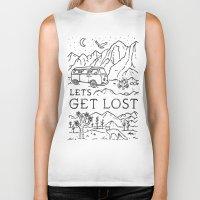 Lets Get Lost (Bw) Biker Tank