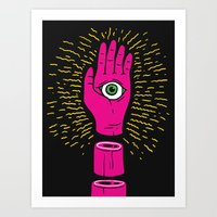 The Hand That Sees Art Print