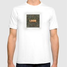 Loom Knox White SMALL Mens Fitted Tee