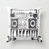 Magnitofon Throw Pillow
