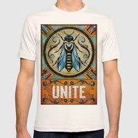 Unite Mens Fitted Tee Natural SMALL
