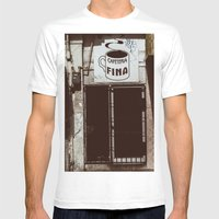 Café Fino Mens Fitted Tee White SMALL