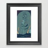 The King Of Antartica Framed Art Print