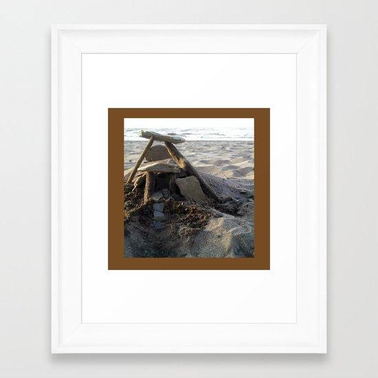 House on the Beach... Framed Art Print