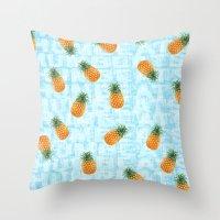 Pineapple Print Throw Pillow