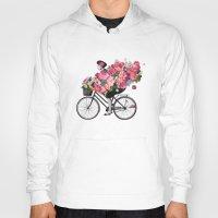 floral bicycle  Hoody