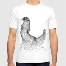 Otter White SMALL Mens Fitted Tee