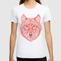 Red Wolf Womens Fitted Tee Ash Grey SMALL