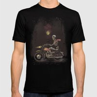 Death Rides In The Night Mens Fitted Tee Black SMALL