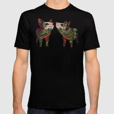 pig love jade SMALL Mens Fitted Tee Black