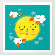 Sunny Morning With A Bit… Art Print