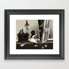 Monster in the Closet Framed Art Print