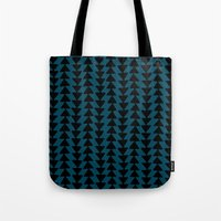 Blue Arrows Tote Bag