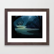 Night Meadow Framed Art Print