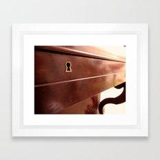 Secret lock Framed Art Print