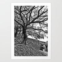 Banyan Tree Monster Art Print