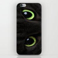 Green Cat Eyes iPhone & iPod Skin