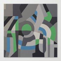 Hacienda Green Canvas Print