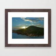 Last Sun Rays Over The F… Framed Art Print