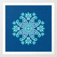Ornamental mandala Art Print