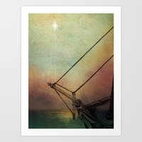 Gently Guided Ship Art Print
