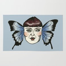 butterfly lady. Rug
