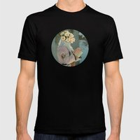 Flora Mens Fitted Tee Black SMALL