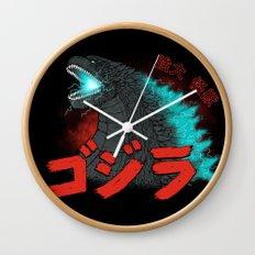 Mighty Kaiju Gojira Wall Clock