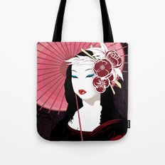 Mona Geisha Lisa Tote Bag