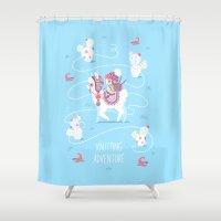 Knitting Adventure Shower Curtain