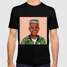 Hipstory - Nelson Mandela Mens Fitted Tee Black SMALL