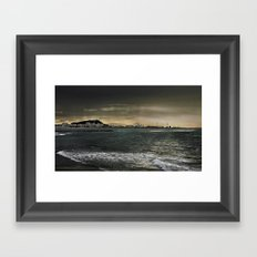 Storm in the sea Framed Art Print