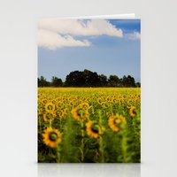 Sunflowers Back Stationery Cards