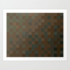 ABSTRACT PIXELS #0010 Art Print