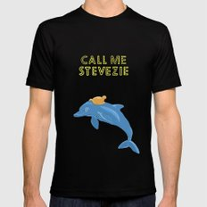 the life with stevezie Mens Fitted Tee Black SMALL