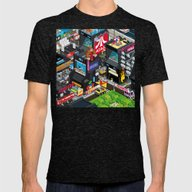 GAMECITY Mens Fitted Tee Tri-Black SMALL