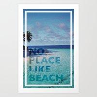NO PLACE LIKE BEACH Art Print