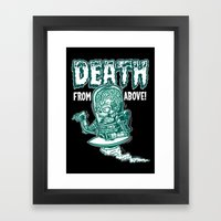 Death From Above (Black) Framed Art Print