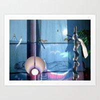Huelek Art Print