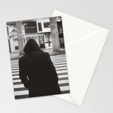 black hood Stationery Cards