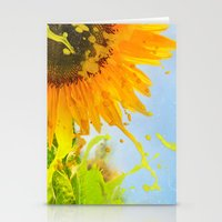 Splashing Sunflower Stationery Cards