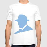 Ghosts Mens Fitted Tee White SMALL