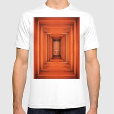 Orange Planks Hall And Door Mens Fitted Tee White SMALL