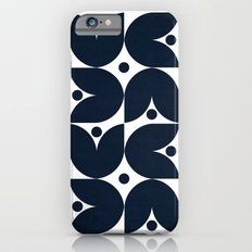 the tulips -navy iPhone 6s Slim Case