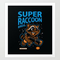 Super Raccoon Art Print