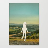 walking in tuscany Canvas Print