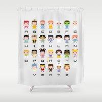 Princess Alphabet Shower Curtain