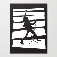 Legendary Punk Frontman Canvas Print