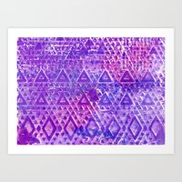 Purple Pyramiding Art Print