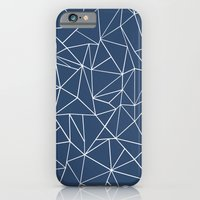 Abstraction Outline Navy iPhone 6 Slim Case